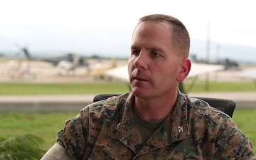 US Marine task force joins Colombia in humanitarian assistance training (Interview - Meade)