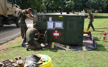 B-Roll: US Marines set up a command operations center in Colombia for humanitarian assistance exercise