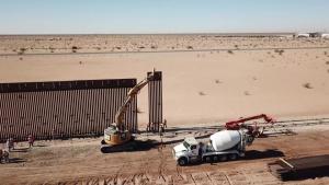 Drone video footage shows progress of Arizona's border barrier