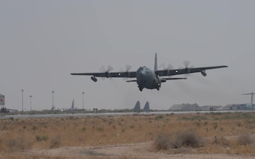 EC-130 Compass Call Departs Ali Al Salem
