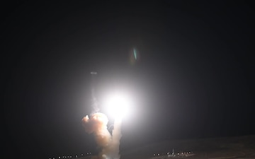 Minuteman III Launches from Vandenberg AFB CA
