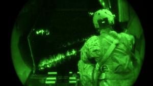 C-145 nighttime airdrop