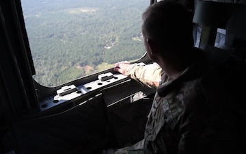 Camp Shelby Night Drop/Drop Zone survey B-roll