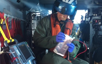 B roll with interview: Coast Guard medevacs 91-year-old man off coast of San Diego