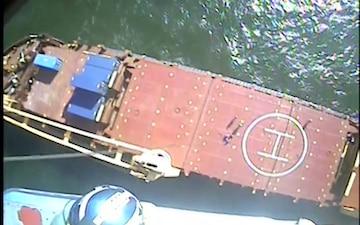 Coast Guard medevacs cargo vessel crewmember 10 miles offshore Galveston, Texas