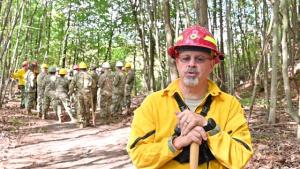 W.Va. Guard's 249th Army Band trains on woodland fire suppression