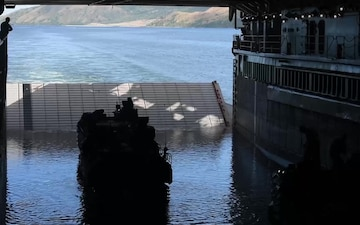 Assault amphibious vehicle departs the well deck