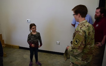 6-year-old Vivian Lord visits Robinson Maneuver Training Center