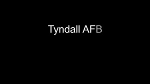 Tyndall Hurricane Michael: 1 Year later