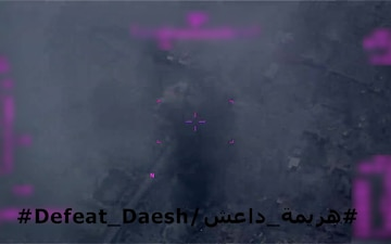 Coalition strike on ISIS IED cache ivo Hawija, Iraq