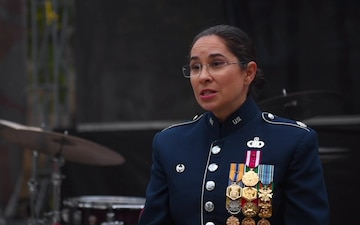 USAFE Jazz Band in Ukraine - Interview with Lt. Col Cristina Moore Urrutia