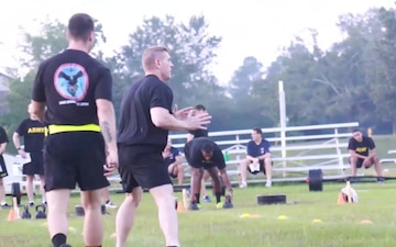 82nd Combat Aviation Brigade Leaders took the Army Combat Fitness Test