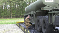 U.S Army Soldiers prepare fueling equipment to support Atlantic Resolve rotation