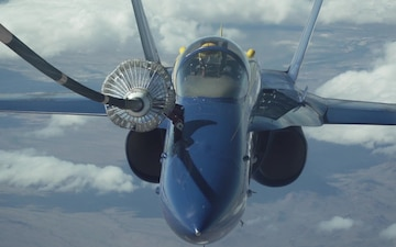 Travis KC-10 Extender refuels Blue Angels