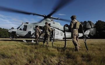B-Roll: Special Warfare Airmen fast-rope insertion training