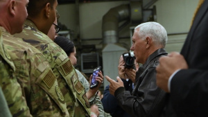 Vice President Mike Pence visits Ramstein Air Base