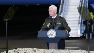 Vice President Mike Pence visits Ramstein speech B-Roll