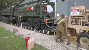 Convoy support centers across Germany provide support to incoming Atlantic Resolve armored brigade