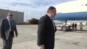 U.S.Secretary of State Departs Israel - October 18, 2019