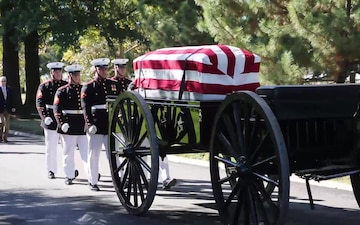 Barracks Marines Lay WWII Marine Pvt. Ted Hall to Rest at Arlington National Cemetery