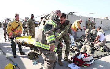 Task Force Warhawk Soldiers Conduct Mass Casualty Training