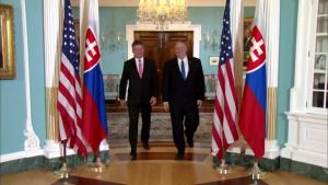 Secretary of State Pompeo Camera Spray with Slovak Foreign Minister Miroslav Lajcak