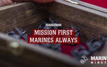 Marine Minute: Mission First, Marines Always