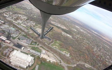 185th Air Refueling Wing performs flyover of Jack Trice Stadium