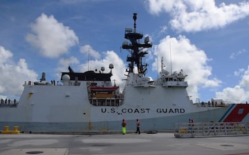 Coast Guard Cutter Stratton arrives to Guam on fisheries patrol