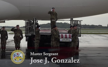 Army Master Sgt. Jose J. Gonzalez - Dignified Transfer