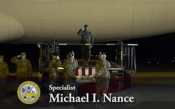 Army Spc. Michael I. Nance - Dignified Transfer