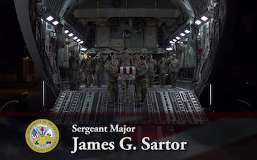 Army Sgt. Maj. James G. Sartor - Dignified Transfer