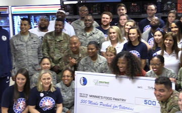 136 AW Members Team Up with Dallas Mavericks for Hoops for Troops