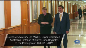 Esper Welcomes Australian Defense Minister