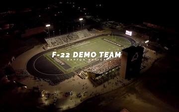 Friday Night Lights: F-22 Demo Team