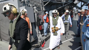 IMX 19 Dignitaries Establish Familiarity with Exercise Operations from JMSDF's JS Bungo (MST-464)