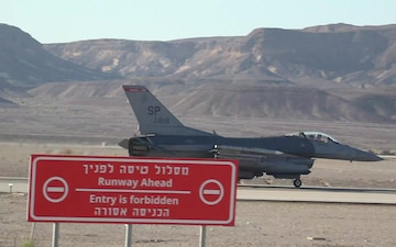 "US Airforce Fighter Jets, Pilots Arrive in Israel To Take Part in ""Blue Flag 2019"" Exercise."
