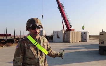 1-5 CAV vehicles and equipment arrive at MK AB - Interview