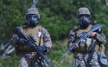 Marines engage in field training exercise