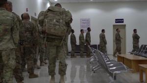 U.S. Soldiers arrive at Prince Sultan Air Base