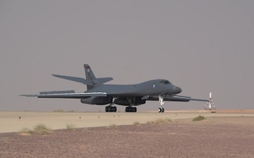 B-1B Lancers land on Prince Sultan Air Base