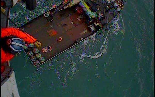 Video Release: Coast Guard medevacs man near Sitkinak Island, Alaska
