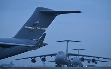 C-5 Galaxy landscapes & Maintenance B-roll