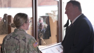 Secretary of State, Mike Pompeo Visits Troops in Germany