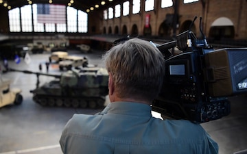 Navy Talent Acquisition Group (NTAG) Pittsburgh recruiter participates in filming of Veterans Day Special