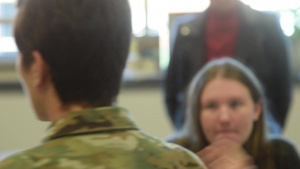 Airmen enlighten Souderton students in Women's Study class