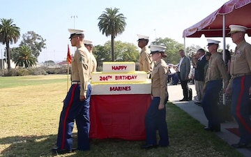 To many more: Miramar Marines conduct cake-cutting ceremony