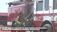 ARFF Marines train with Camp Pendleton Fire Department