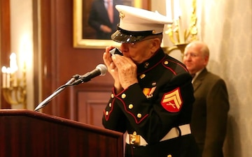 96 Year Old Marine's Harmonic Tribute