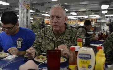 U.S. Navy Chief of Chaplains Visits USS Ronald Reagan